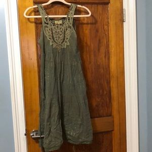 Free people green swimsuit cover up.